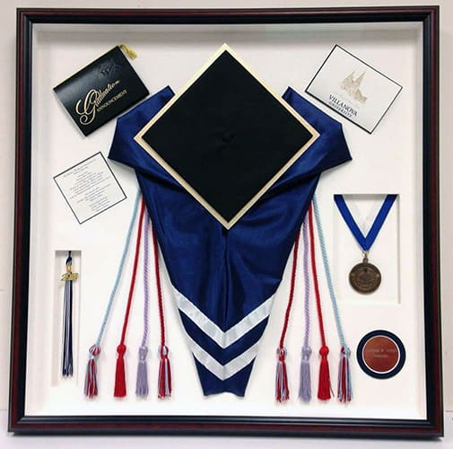 Villanova graduation shadowbox