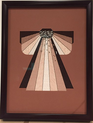 brown angel picture frame
