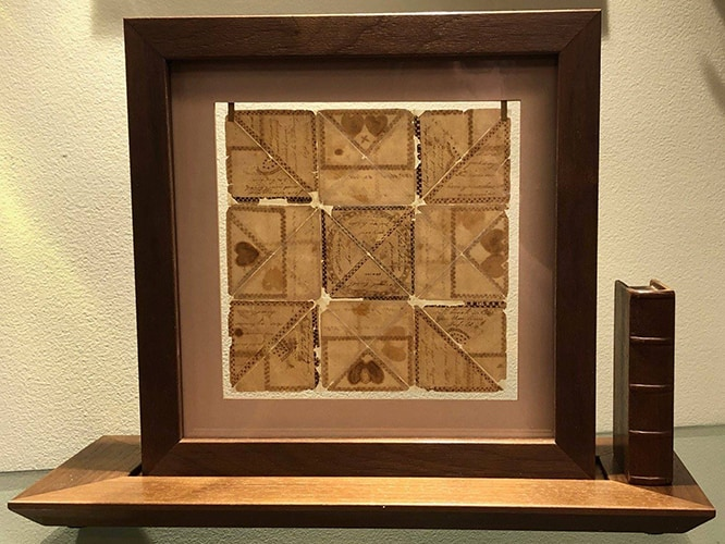 antique valentine shadowbox frame