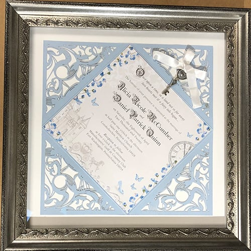 wedding announcement custom frame