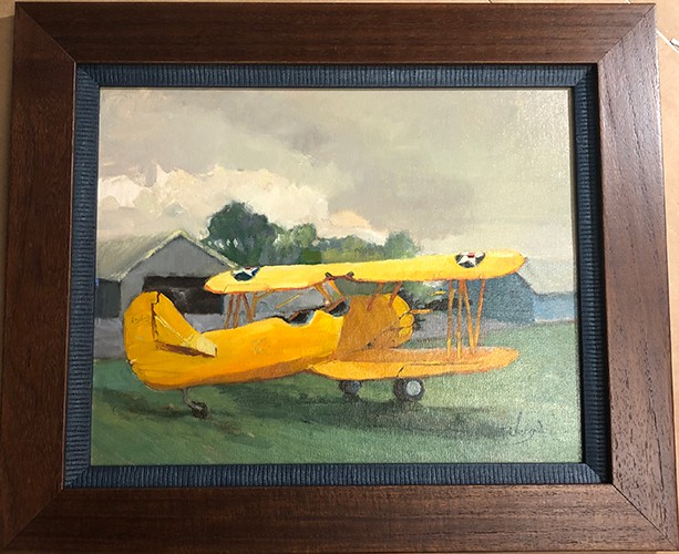 yellow airplane picture frame