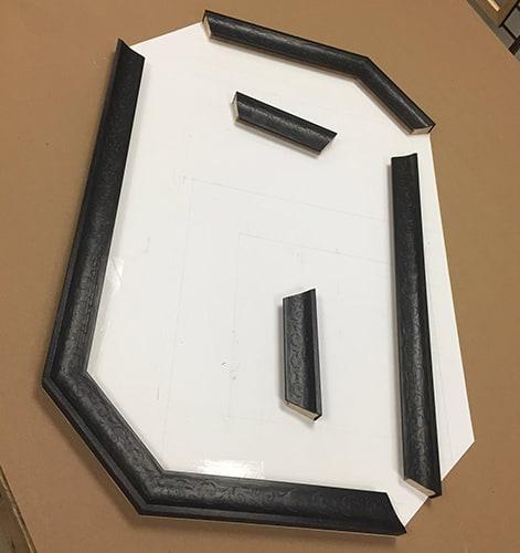 custom mirror framing project