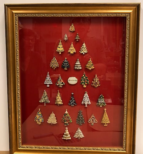 Christmas pin shadowbox frame