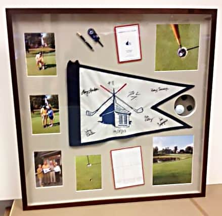 golf memories picture frame