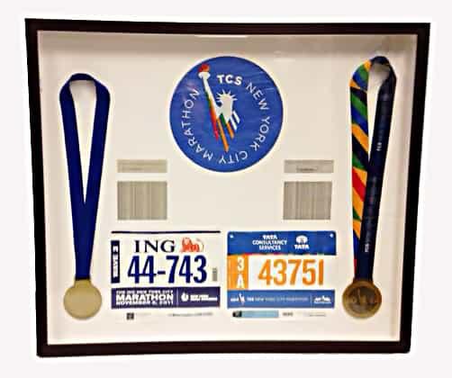 marathon sports memorabilia shadowbox