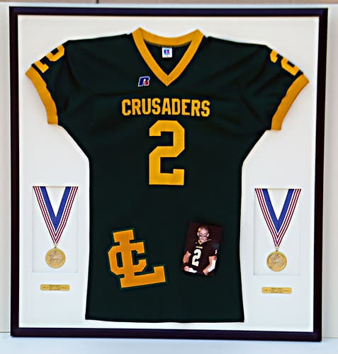 football jersey frame