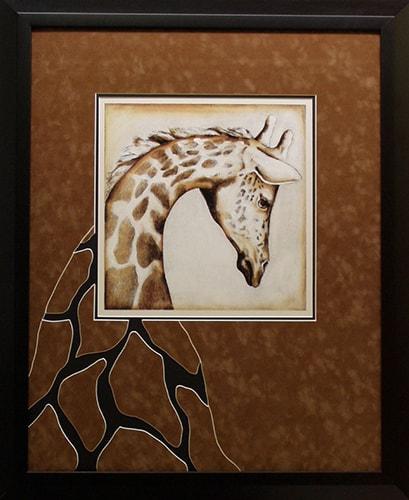 creative giraffe custom frame
